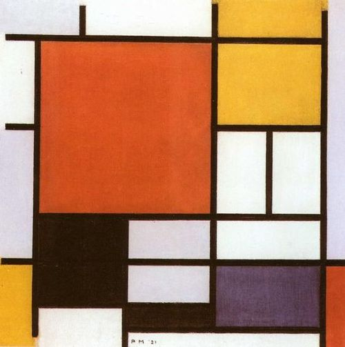 "Piet Mondrian ""Composition with Red, Yellow, Blue and Black"" 1921"