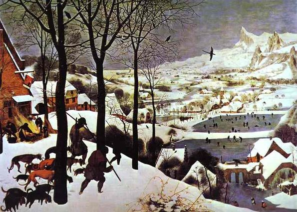 "Pieter Bruegel the Elder ""The Hunters in the Snow (January)"" 1565."